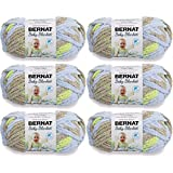 Bernat Baby Blanket Yarn-6/Pk-Little, 6/Pk, Little Boy Dove 6 Pack