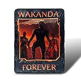 Black Panther Wakanda Forever Fleece Blanket | Marvel Merchandise | 45x60 inches