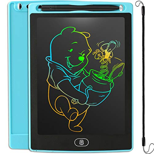 Preisvergleich Produktbild JOEAIS LCD Schreibtafel Bunter Bildschirm,  Elektronisch Schreibtafel Digital Zeichenbrett,  Geschenk für Kinder Erwachsene Home School OfficeHellblau,  8, 5 Zoll