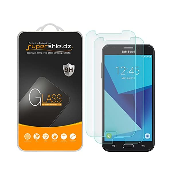 Supershieldz (2 Pack) for Samsung Galaxy J7 (2017) Tempered Glass Screen Protector,...
