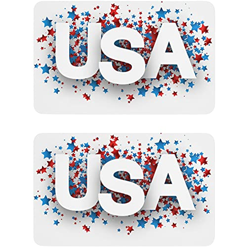 Vnurnrn Imán para lavaplatos de la estrella patriótica americana del 4 ° de julio, placa magnética para cocina o oficina, indicador de lavadora de platos, 2 unidades