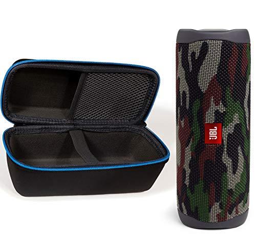 JBL Flip 5 Waterproof Portable Wireless Bluetooth Speaker Bundle with divvi! Protective Hardshell Case - Camouflage