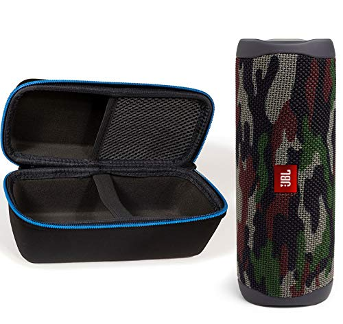 JBL Flip 5 Waterproof Portable Wireless Bluetooth Speaker Bundle with divvi! Protective Hardshell Case - Camouflage