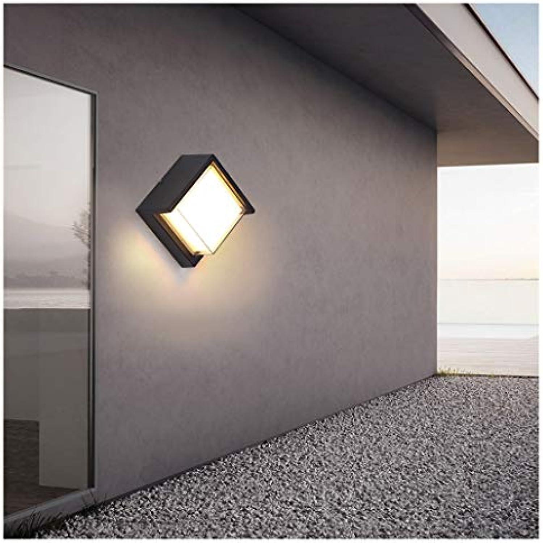 THOR-BEI Outdoor LED Wasserdichte Wandleuchte Innenhof Garten Beleuchtung Moderne Terrasse Balkon Gang Wandleuchte LED [Energieklasse A + +] -624Wandleuchten