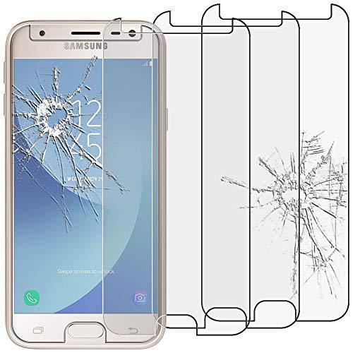 """ebestStar - [Lote x3 Cristal Templado Compatible con Samsung J3 2017 Galaxy SM-J330F Protector de Pantalla, Película Vidrio Dureza 9H, Sin-Burbujas [Aparato:143.2x70.3x7.9mm 5.0""""]"""