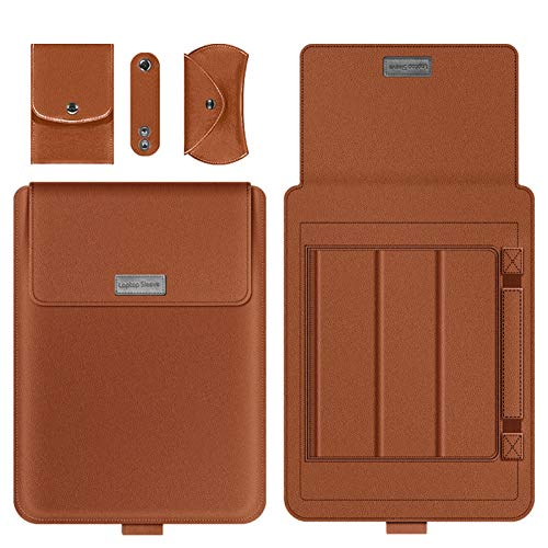 WSY Laptop Sleeve Bag For Huawei Matebook D 14 D 15 X Pro Case Sleeve For MacBook Air 13 Case For Honor MagicBook 14 15 Cover (Color : Brown, Size : For Matebook 13)
