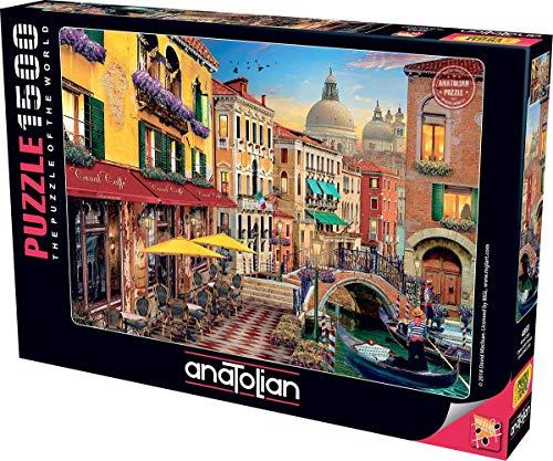 Anatolian Puzzle - Canal Cafe Venice, 1500 Piece Jigsaw Puzzle, Code: 4553