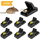 Kytuwy Mouse Trap, 6 Pack Reusable Mice Snap Traps, Power Mouse Catcher That Kill Rat Instantly, Sensitive...