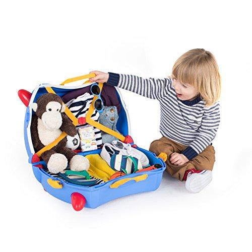 Trunki Trolley Kinderkoffer, Handgepäck für Kinder: Paddington Bär (Blau) - 4
