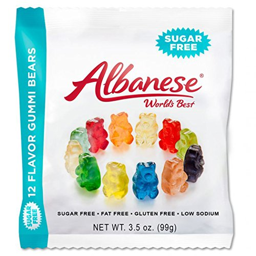 Albanese Sugar Free 12 Flavor Gummi Bears, 3.5 Ounce (Pack of 12)