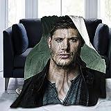 jensen ackles merchandise - JUNIP Ultra-Soft Micro Fleece Jensen-Ackles-Design Blanket Lightweight Cozy Flannel Throw Blanket for Children/Adults