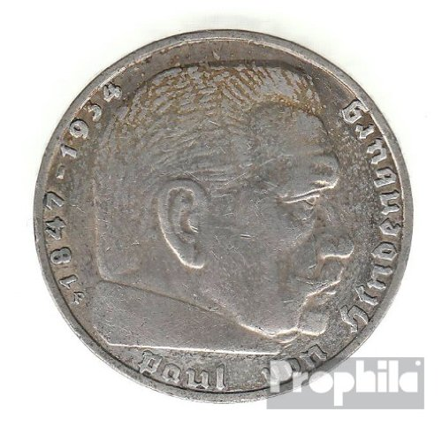 Deutsches Reich Jägernr: 366 1939 A sehr schön Silber sehr schön 1939 2 Reichsmark Hindenburg (Münzen für Sammler)