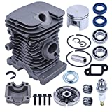 Adefol 38mm Head Cylinder Piston Clutch Assy Bearing for STIHL 017 018 MS180 MS170 MS 170 180 Chainsaw with Oil Seal Mufller Gasket