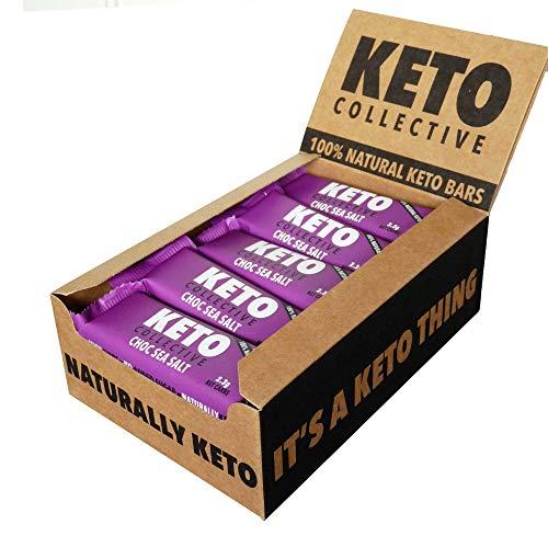Keto Collective Wholefood Keto Bars I 15x40g I Choc Sea Salt I 2g Net Carbs I Low carb I High Fibre I Natural Ingredients I Source of Protein I Perfect Fuel for a Keto Lifestyle I Gluten Free I Vegan