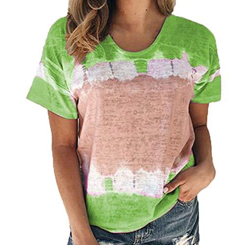 T-Shirt Frauen Frühling und Sommer New Loose Round Neck Kurzarm Bedrucktes Top