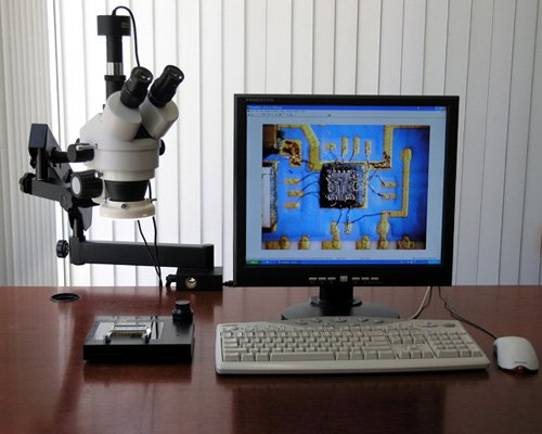 AmScope SM-6TPZ-64S-3M Digital Professional Trinocular Stereo Zoom Microscope with Simultaneous Focus Control, WH10x Eyepieces, 3.5X-90X Magnification, 0.7X-4.5X Zoom Objective, 64-Bulb LED Ring Light, Clamping Articulating Arm Stand, 110V-240V, Includes 0.5X and 2.0X Barlow Lenses and 3MP Camera with Reduction Lens and Software
