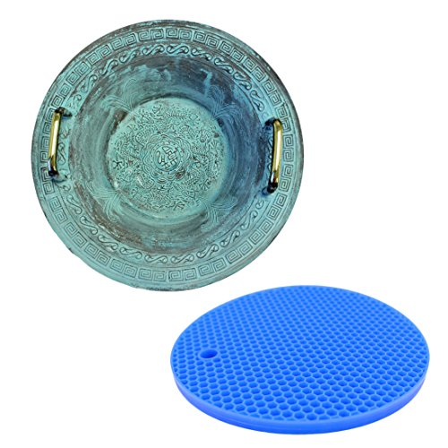 Resonance Chinese Spouting Bowl Plus Rubber Mat   Create a Dancing Water Fountain Display   Relaxing and Satisfying Experience
