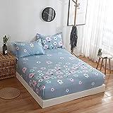 HAIBA Juego de sábanas – Tela de microfibra cepillada suave de fácil cuidado, sábana encimera, sábana bajera, resistente a la decoloración, 135 x 200 cm + 25 cm