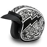Daytona Helmets Motorcycle Open Face Helmet Cruiser- Graffiti 100% DOT Approved