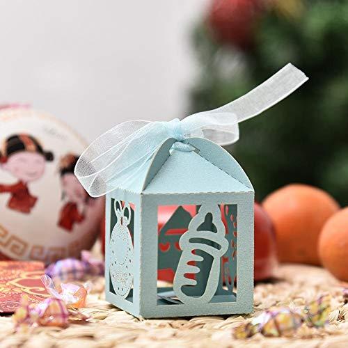 Pirámide de boda y fiesta favor cajas lugar Tarjeta /& Cinta Elegir Cantidad Rosa o Azul