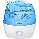 Homasy 2.2L Cool Mist Humidifiers, Independent Power Adapter, 28dB Quiet, 30H Working Time, Auto Shut-Off, for Baby, Office, BPA-Free, Blue