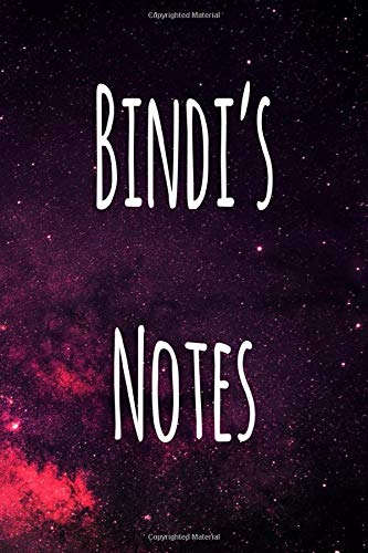 Bindi's Notes: Personalised Name Notebook - 6x9 119 page custom notebook- unique specialist personalised gift!