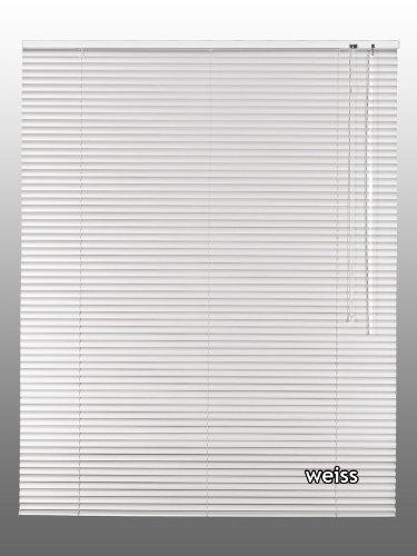 Alu-Aluminium Jalousie Rollo Jalousette 50 x 100 cm / 50x100 cm in Farbe weiss - Bedienseite rechts