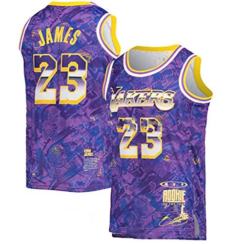 Maglia NBA dei Tifosi, Squadra di Basket Lakers #23 T-Shirt Comoda e Leggera, Top Sportivo per Adulti