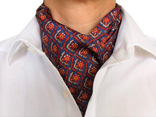 Seidenfädchen Foulard/Châle en soie à nouer pour homme 100 % pure soie Alternative à la cravate