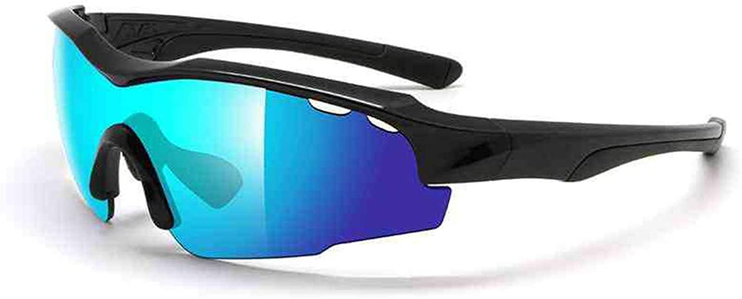 Outdoor Sports Men and Women Predect Themselves from Blowing Sand Lens Cycling Running Sports Sunglasses blueee Mountain Bike Riding Glasses (color   White)