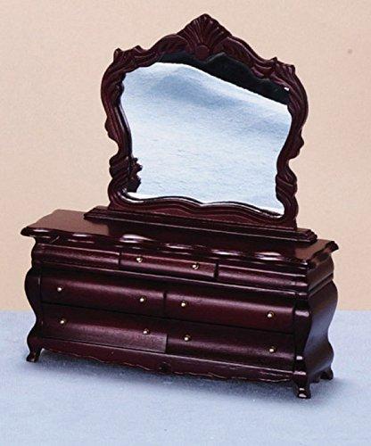 Melody Jane Casa de Muñecas Disfraz Victoriano Tocador Caoba Miniatura Muebles de Dormitorio