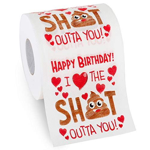 Husband Birthday Gifts by Aliza | Large Funny Gag Toilet Paper Roll – Excellent Gift for Wife Husband Boyfriend Girlfriend Friend Sister Brother Dad Mom -- The Perfect Decoration for Your Party