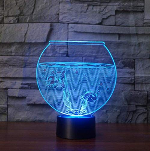 Nieuwe Aquarium 3D LED nachtverlichting 3D illusie nachtlamp tafel bureaulamp Home Decor verjaardagscadeau