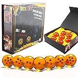 Makion Dragonball Z -Juguete Dragonball z Set de 7 Bolas de Cristal de Dragon Ball Z en Estuche de Regalo