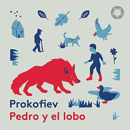 Diseño de la portada del título Pedro y el lobo