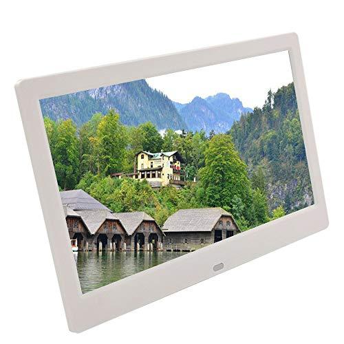 10-Zoll-ultradünner hochauflösender digitaler Fotorahmen, elektronisches Fotoalbum, an der Wand montierter Werbespieler, Videoplayer, weiß/schwarz
