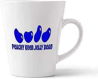 Royal Blue Peachy Keen Jelly Bean Ceramic Latte Mug - 12 OZ