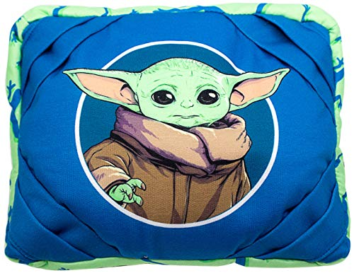 Star Wars The Mandalorian The Child and Frog iPad Tablet Pillow - Soft Holder Rest Support Pillow Features Baby Yoda (Official Star Wars Product)