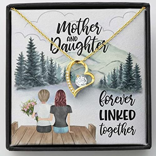 Mother and Daughter New color Colorado Springs Mall Forever Together Love Pendant Linked