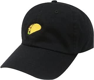 C104 Taco Emoji Cotton Baseball Cap Dad Hats 15 Colors