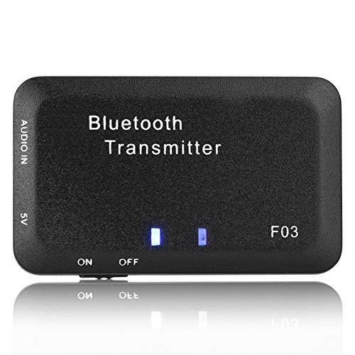 Transmisor de Audio Bluetooth, Adaptador de Audio inalámbrico Bluetooth 5.0, Transmisor de música estéreo de Audio de 3,5 mm, para TV/PC / MP3 estéreo para el hogar