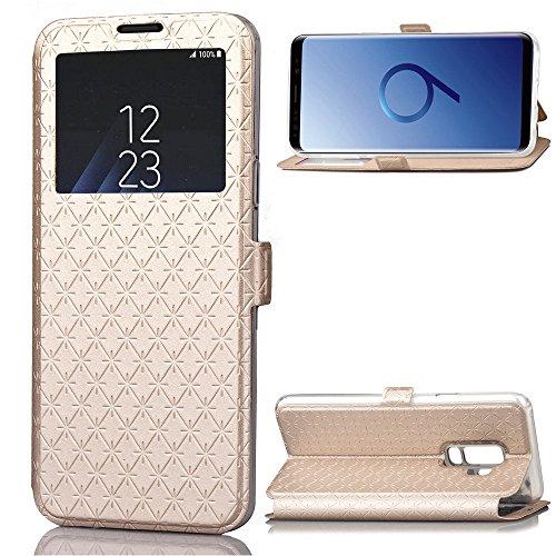 Luckyandery - Funda tipo cartera para Galaxy S9 Plus (piel sintética, ranuras para tarjetas, cierre magnético)