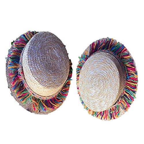 Collocation-Online 2018 Sombreros de Paja de Verano para Mujer, Sombrero de Sombrero de Sol para Playa o…