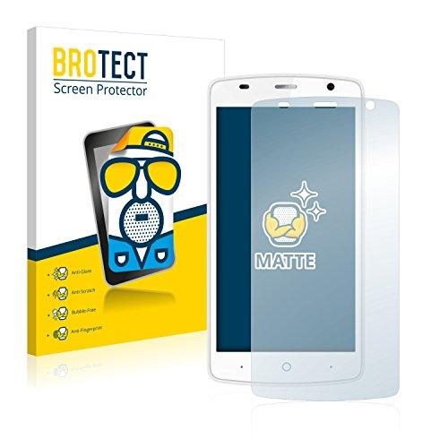 BROTECT 2X Entspiegelungs-Schutzfolie kompatibel mit ZTE Blade L5 Plus Bildschirmschutz-Folie Matt, Anti-Reflex, Anti-Fingerprint