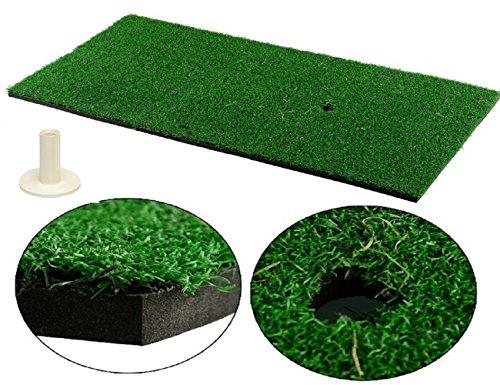 LL-Golf ® Golf Abschlagmatte 60x30 cm/Übungsmatte/Training Übung Matte inklusive Gummi Tee