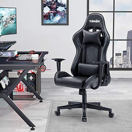 Gaming Chairs, Tribesigns Ergonomic Office Chair Desk Chair High-Back Adjustable Swivel Task Chair with Headrest and Lumbar Support Massage Executive Chair