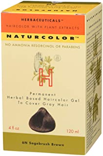 Naturcolor 6N Sagebrush Brown Hair Dyes, 4 Ounce