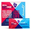 Real Ketones™ Prime D+ Exogenous Keto D BHB + MCT Oil- 28 Packets- Drink Mix Powder Supplement with Electrolytes – Grape Tart- Ketosis in 1 Hour