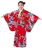 ACVIP Kinder Traditional Retro Ethnische Art Tanz Show Polyester Kimono (140-150, Rot)
