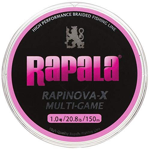 ラパラ PEライン ラピノヴァX マルチゲーム 150m 1.0号 0.8lb 4本 ピンク RLX150M10PK